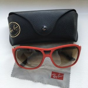 Rayban sunglass rb4128 red black authentic